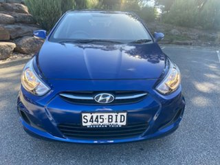 2015 Hyundai Accent RB2 MY15 Active Dazzling Blue 4 Speed Sports Automatic Hatchback.
