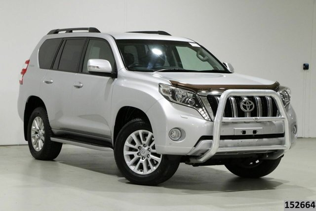 Used Toyota Landcruiser Prado KDJ150R MY14 VX (4x4) Bentley, 2014 Toyota Landcruiser Prado KDJ150R MY14 VX (4x4) Silver 5 Speed Sequential Auto Wagon