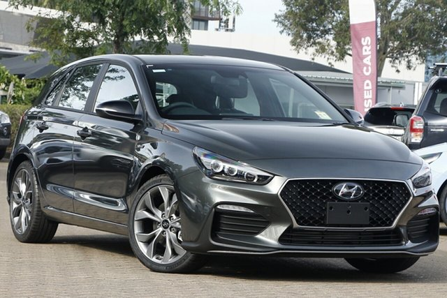 New Hyundai i30 PD.V4 MY21 N Line D-CT St Marys, 2020 Hyundai i30 PD.V4 MY21 N Line D-CT Phantom Black 7 Speed Sports Automatic Dual Clutch Hatchback