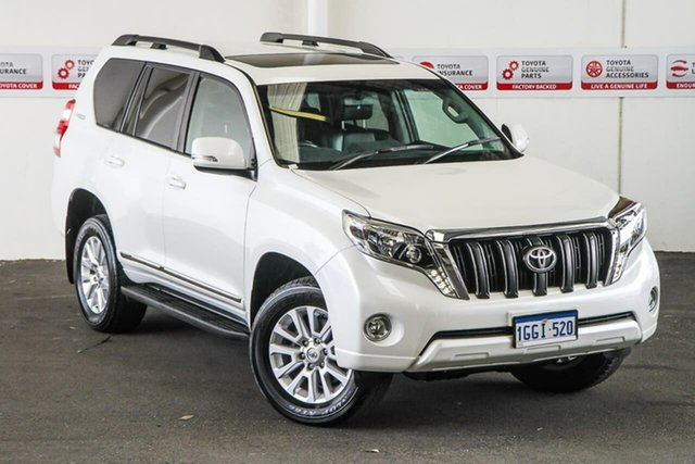 Pre-Owned Toyota Landcruiser Prado GDJ150R Altitude Myaree, 2017 Toyota Landcruiser Prado GDJ150R Altitude Crystal Pearl 6 Speed Sports Automatic Wagon