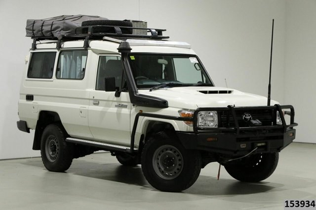 Used Toyota Landcruiser VDJ78R MY18 Workmate (4x4) 2 Seat Bentley, 2018 Toyota Landcruiser VDJ78R MY18 Workmate (4x4) 2 Seat White 5 Speed Manual TroopCarrier