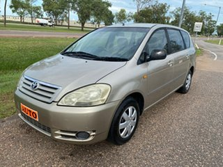 2002 Toyota Avensis Verso ACM20R GLX Gold 4 Speed Automatic Wagon.