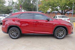 2016 Lexus RX GGL25R RX350 F Sport Red 8 Speed Sports Automatic Wagon.