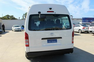 2010 Toyota HiAce TRH223R MY10 Commuter High Roof Super LWB White 4 Speed Automatic Bus