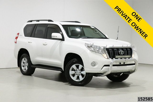 Used Toyota Landcruiser Prado KDJ150R MY14 GXL (4x4) Bentley, 2014 Toyota Landcruiser Prado KDJ150R MY14 GXL (4x4) White 5 Speed Sequential Auto Wagon