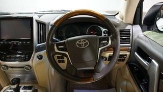 2017 Toyota Landcruiser VDJ200R Sahara Glacier White 6 Speed Sports Automatic Wagon