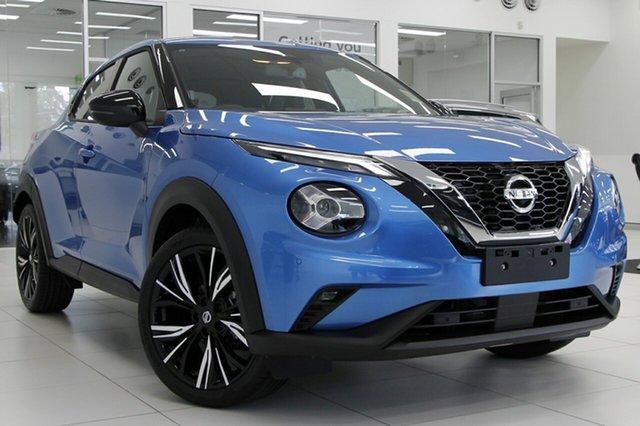 New Nissan Juke F16 Ti DCT 2WD Morphett Vale, 2020 Nissan Juke F16 Ti DCT 2WD Vivid Blue 7 Speed Sports Automatic Dual Clutch Hatchback