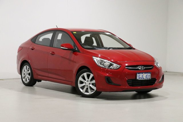 Used Hyundai Accent RB5 Sport Bentley, 2017 Hyundai Accent RB5 Sport Red 6 Speed Automatic Sedan