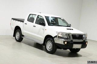 2015 Toyota Hilux KUN26R MY14 SR (4x4) White 5 Speed Automatic Dual Cab Pick-up