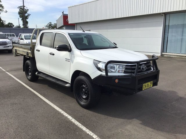 Used Toyota Hilux GUN126R SR Double Cab Cardiff, 2017 Toyota Hilux GUN126R SR Double Cab White 6 Speed Sports Automatic Utility