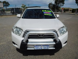 2009 Toyota Kluger GSU40R KX-R 2WD White 5 Speed Sports Automatic Wagon.