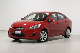 2017 Hyundai Accent RB5 Sport Red 6 Speed Automatic Sedan.