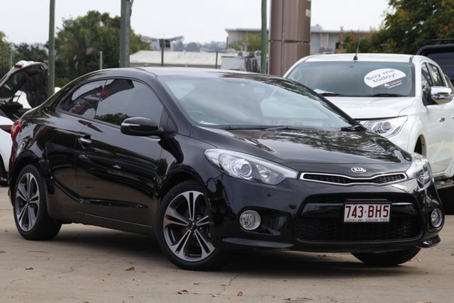 Used Kia Cerato YD MY14 Koup SI Toowoomba, 2013 Kia Cerato YD MY14 Koup SI Black 6 Speed Sports Automatic Coupe