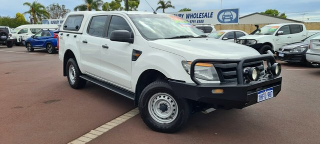 Used Ford Ranger PX XL East Bunbury, 2014 Ford Ranger PX XL White 6 Speed Sports Automatic Cab Chassis