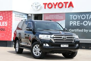 2017 Toyota Landcruiser VDJ200R Sahara Eclipse Black 6 Speed Automatic Wagon.