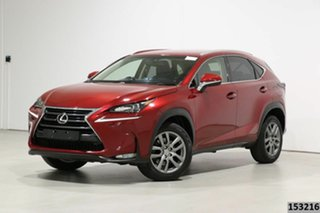 2016 Lexus NX200T AGZ10R Luxury (FWD) Vermillion Red 6 Speed Automatic Wagon.
