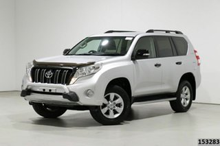 2014 Toyota Landcruiser Prado KDJ150R MY14 GX (4x4) Silver 5 Speed Sequential Auto Wagon.