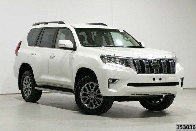 Used Toyota Landcruiser Prado GDJ150R MY18 VX (4x4) Bentley, 2018 Toyota Landcruiser Prado GDJ150R MY18 VX (4x4) Pearl White 6 Speed Automatic Wagon