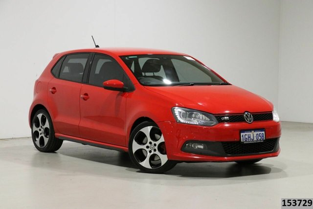 Used Volkswagen Polo 6R MY13 GTi Bentley, 2013 Volkswagen Polo 6R MY13 GTi Red 7 Speed Auto Direct Shift Hatchback