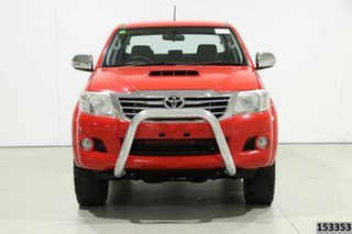 2011 Toyota Hilux KUN26R MY12 SR5 (4x4) Red 4 Speed Automatic Dual Cab Pick-up.