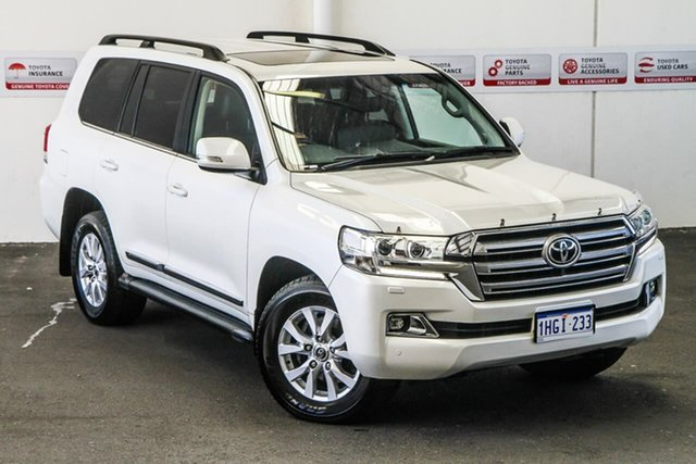 Pre-Owned Toyota Landcruiser VDJ200R MY16 Sahara (4x4) Myaree, 2016 Toyota Landcruiser VDJ200R MY16 Sahara (4x4) Crystal Pearl 6 Speed Automatic Wagon