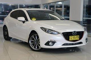 2014 Mazda 3 BM5428 XD SKYACTIV-Drive Astina White 6 Speed Sports Automatic Hatchback.