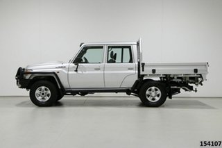 2017 Toyota Landcruiser VDJ79R GXL (4x4) Silver 5 Speed Manual Double Cab Chassis
