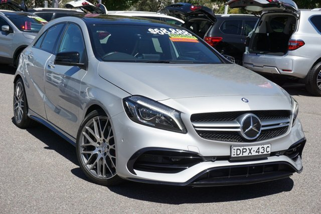Used Mercedes-Benz A-Class W176 808MY A45 AMG SPEEDSHIFT DCT 4MATIC Phillip, 2017 Mercedes-Benz A-Class W176 808MY A45 AMG SPEEDSHIFT DCT 4MATIC Silver 7 Speed