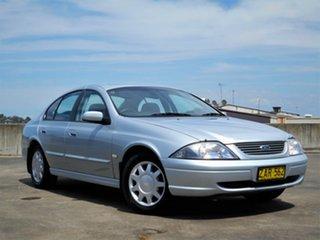 2002 Ford Falcon AU III Forte Silver 4 Speed Automatic Sedan.