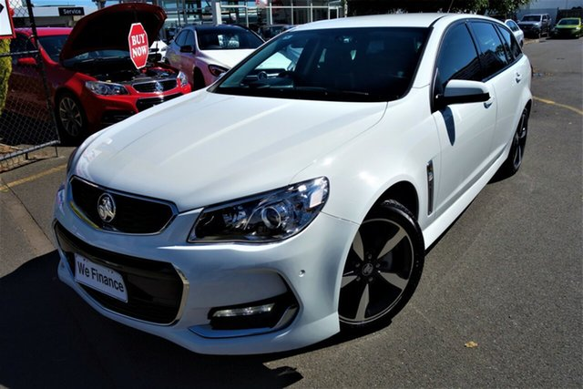 Used Holden Commodore VF II MY17 SV6 Sportwagon Seaford, 2017 Holden Commodore VF II MY17 SV6 Sportwagon White 6 Speed Sports Automatic Wagon