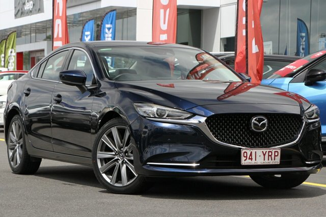 Used Mazda 6 GL1031 GT SKYACTIV-Drive Aspley, 2018 Mazda 6 GL1031 GT SKYACTIV-Drive Blue 6 Speed Sports Automatic Sedan