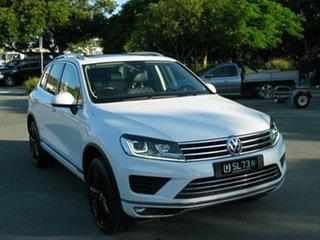 2017 Volkswagen Touareg 7P MY17 V6 Wolfsburg Edition White 8 Speed Automatic Wagon.
