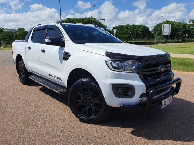 Used Ford Ranger PX MkIII 2019.00MY Wildtrak Townsville, 2018 Ford Ranger PX MkIII 2019.00MY Wildtrak Frozen White 10 Speed Sports Automatic Utility