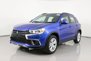 2019 Mitsubishi ASX XC MY19 ES (2WD) Blue Continuous Variable Wagon.