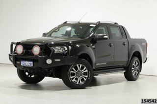 2017 Ford Ranger PX MkII MY17 Update Wildtrak 3.2 (4x4) Black 6 Speed Automatic Dual Cab Pick-up.