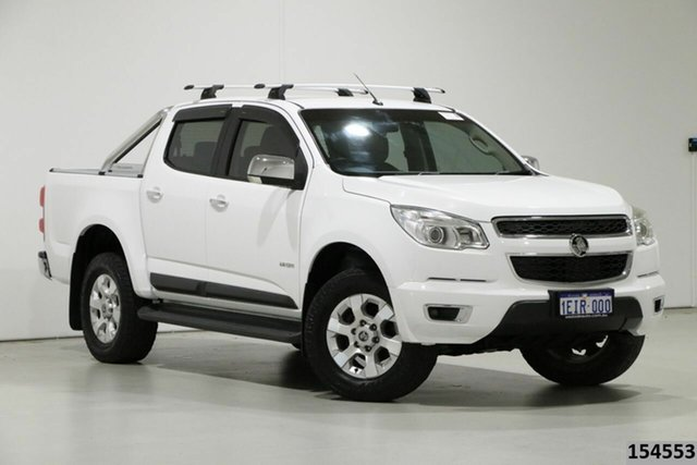 Used Holden Colorado RG LTZ (4x4) Bentley, 2013 Holden Colorado RG LTZ (4x4) White 5 Speed Manual Crew Cab Pickup