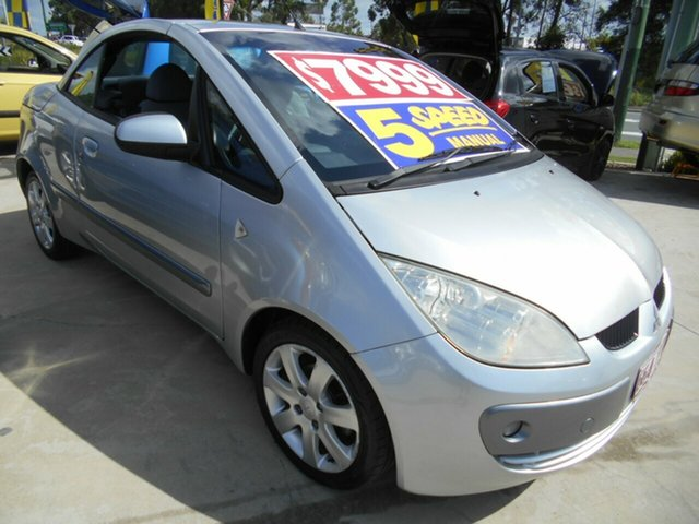 Used Mitsubishi Colt RZ MY07 Springwood, 2007 Mitsubishi Colt RZ MY07 Silver 5 Speed Manual Cabriolet