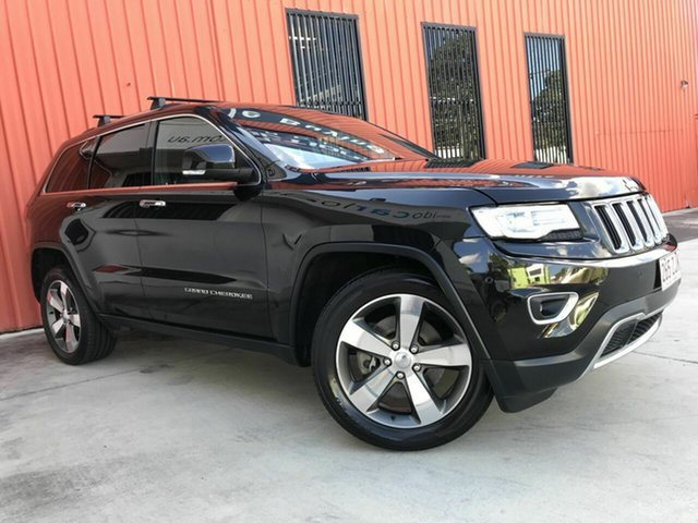 Used Jeep Grand Cherokee WK MY15 Limited Molendinar, 2015 Jeep Grand Cherokee WK MY15 Limited Black 8 Speed Sports Automatic Wagon