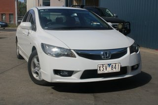 2010 Honda Civic MY10 VTi LE White 5 Speed Manual Sedan.