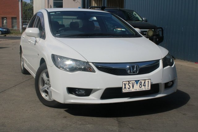 Used Honda Civic MY10 VTi LE West Footscray, 2010 Honda Civic MY10 VTi LE White 5 Speed Manual Sedan