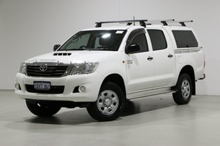 2012 Toyota Hilux KUN26R MY12 SR (4x4) White 4 Speed Automatic Dual Cab Pick-up.