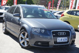 2007 Audi A3 8P Ambition Sportback S Tronic Grey 6 Speed Sports Automatic Dual Clutch Hatchback.