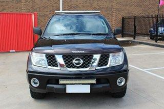 2009 Nissan Navara D40 RX (4x4) Black 5 Speed Automatic Dual Cab Pick-up.