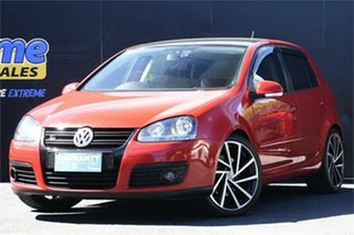 2009 Volkswagen Golf V MY09 GT DSG Sport Red 6 Speed Sports Automatic Dual Clutch Hatchback.