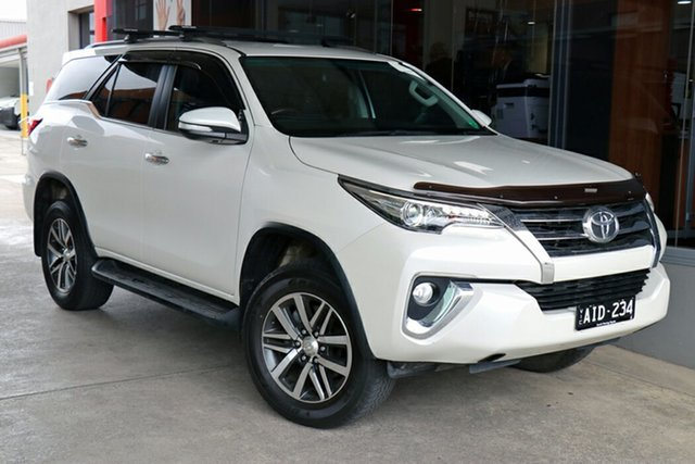 Pre-Owned Toyota Fortuner GUN156R Crusade Preston, 2016 Toyota Fortuner GUN156R Crusade Pearl White 6 Speed Automatic Wagon