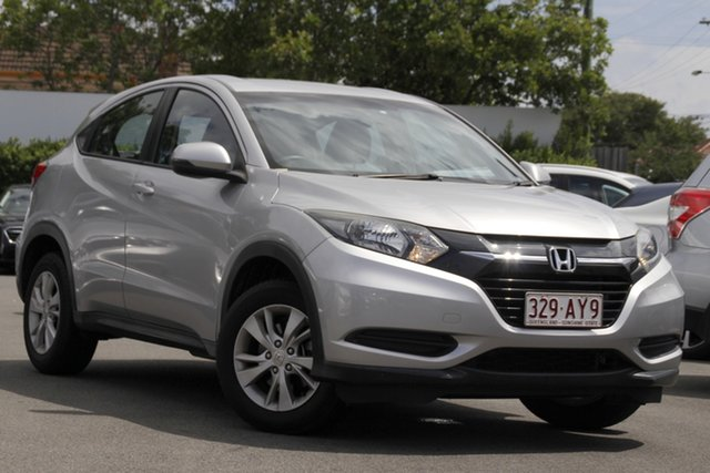 Used Honda HR-V MY15 VTi Mount Gravatt, 2015 Honda HR-V MY15 VTi Silver 1 Speed Constant Variable Hatchback