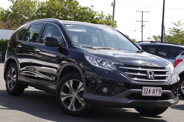 Used Honda CR-V RM VTi-L 4WD Mount Gravatt, 2012 Honda CR-V RM VTi-L 4WD Black 5 Speed Automatic Wagon