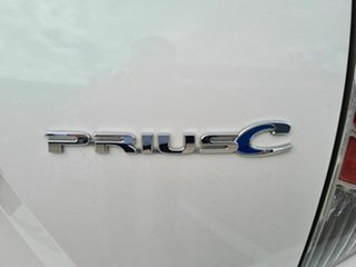 2012 Toyota Prius c NHP10R E-CVT White 1 Speed Constant Variable Hatchback Hybrid