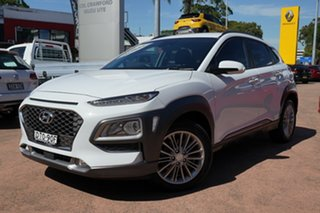 2017 Hyundai Kona OS Elite (AWD) White 7 Speed Auto Dual Clutch Wagon