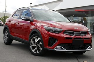 2021 Kia Stonic YB MY21 GT-Line DCT FWD Signal Red & Aurora Black 7 Speed.